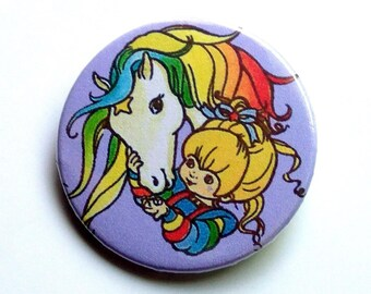 Rainbow Brite - button badge or magnet 1.5 Inch