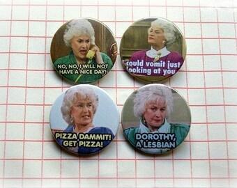 Bea Arthur -Golden Girls- button badge or magnet 1.5 Inch