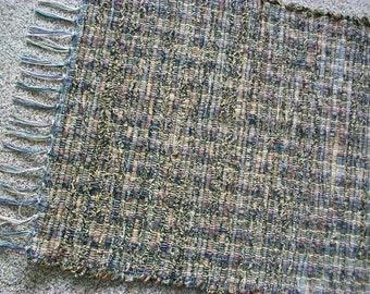 handmade loom black, brown, tan designer fabric  south dakota made