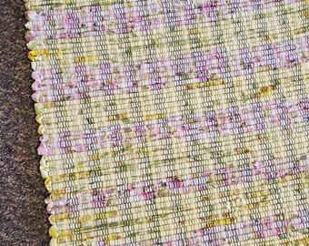 handmade pastel yellow pinks  multi color loom woven South Dakota made