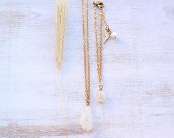 Moonstone Necklace and Bracelet
