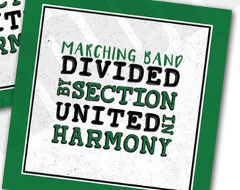 Marching Band Divided by Section United in Harmony Red and | Etsy