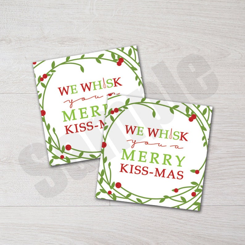 photo regarding We Whisk You a Merry Kissmas Printable Tag identify We Whisk Your self a Merry Kissmas Xmas Reward Desire Tag Printable