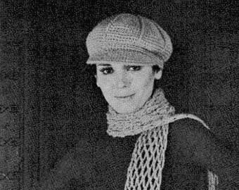 Women s Newsboy Cap PDF Crochet Pattern Instant Download on Etsy 4ec65167db9a