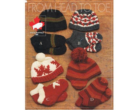 White Buffalo Wool Cowichan Knitting Pattern Hat Toque  371c1c15c10