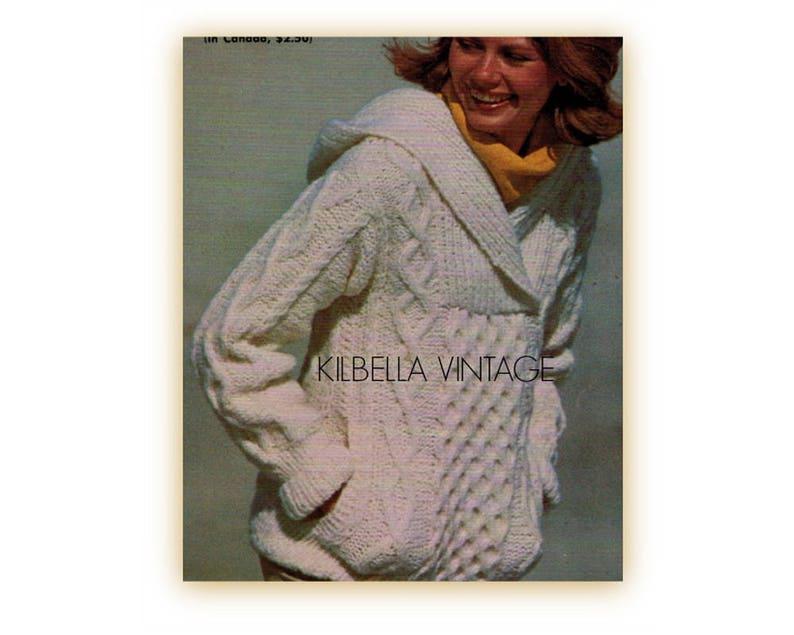b1a233fad Women s Aran Hooded Sweater Knitting Pattern Hoody