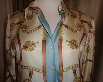 9d7b25054e9581 Vintage Pure Silk Blouse