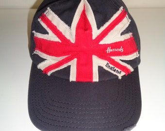 9f7cf2c10ddee Vintage Very British Baseball Cap from the Harrods Department Store in  London
