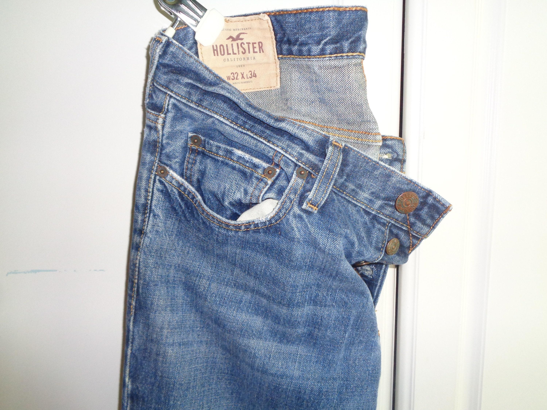 Jahrgang HOLLISTER California Trading Company authentische Denim Pacific  Merchants Größe 9 X 9 schlanke gerade Unisex Stil blau Jeans