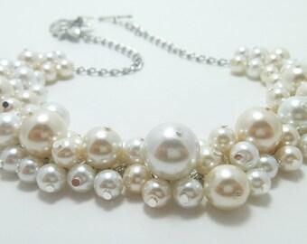 42795e9737e3c White pearl necklace   Etsy