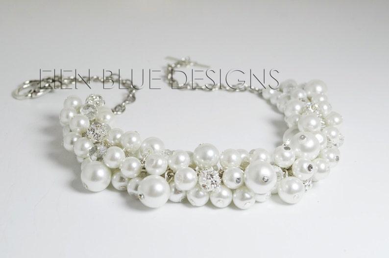 a5f19ad89164 Collar de perlas blanco collar grueso blanco perla y collar