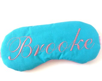 Personalized sleep mask • Name sleep mask • Monogrammed party favor • Baby shower gift • Bridesmaids gift • Custom sleep mask • Name gift