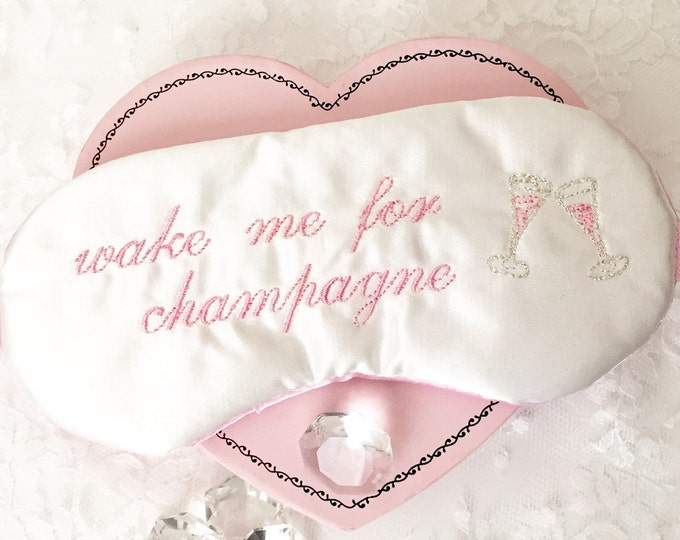 Featured listing image: Wake me for champagne sleep mask