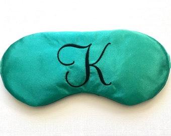 Monogram sleep mask • Adjustable sleeping mask • Custom initial sleep mask • Bridesmaids gift • Slumber party favor • Teacher gift