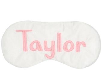Personalized sleep mask • Name sleep mask • Monogrammed party favor • Slumber party favor • Bridesmaids gift • Custom sleep mask • Name gift