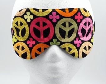 Handmade sleep mask • PEACE SIGN