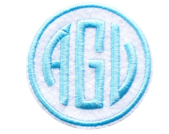 Personalized patch, Monogram patch, Iron on patch, Round iron on patch, Personalized appliqué, Custom patch