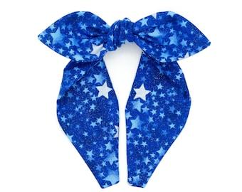 Top knot headband • SILVER STARS