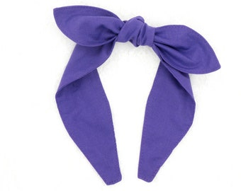 Top knot headband • DARK LAVENDER