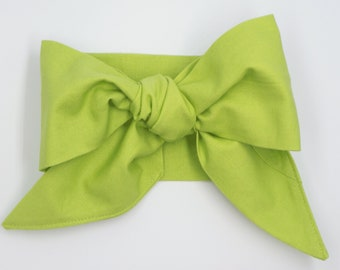 Handmade head wrap headband • CHARTREUSE