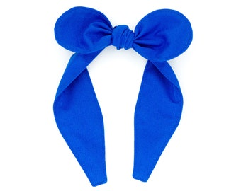 Top knot headband • COBALT BLUE