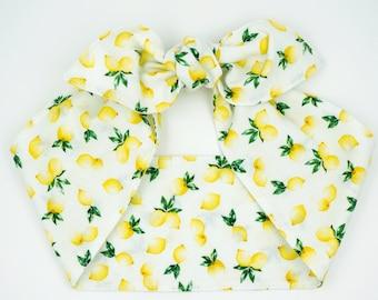 Top knot headscarf • Retro headband • Pinup head wrap • Photo prop headband • Top knot cotton headband • Knotted headband • LITTLE LEMONS