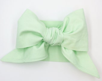 Handmade head wrap headband • MINT