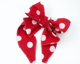Pinwheel bow headband • Handmade headband • Big bow headband • Bow head wrap • Oversized bow band • Diva bow band • BIG DOTS