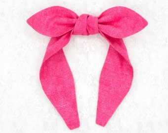 Top knot bow headband • VARIOUS COLORS