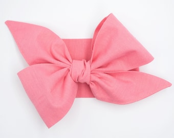Handmade hair scarf headband • BUBBLEGUM