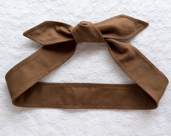 Top knot skinny headband headscarf • SOLID COLORS