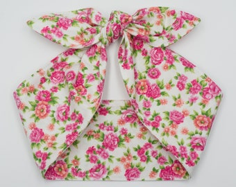 Floral Top knot headband • VINTAGE ROSES