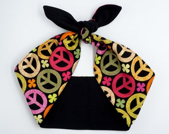PEACE sign Top knot headband • LIMITED QUANTITY