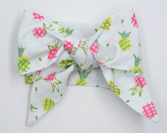 Handmade head wrap headband • PINEAPPLES