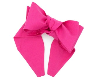 Pinwheel bow headband • Handmade headband • Big bow headband • Bow head wrap • Oversized bow band • Diva bow band • SOLID COLORS