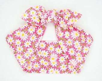 Top knot headscarf headband • DAISY PINK