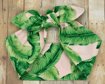 Tropical top knot headscarf • PALM LEAVES