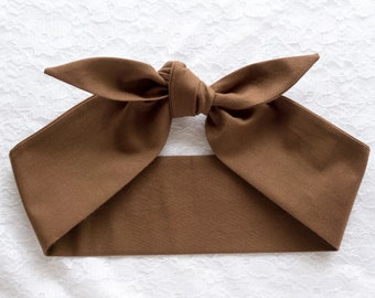 Top knot headband head scarf • SOLID COLORS