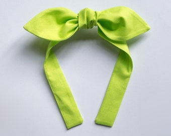 Knotted bow headband • VARIOUS COLORS
