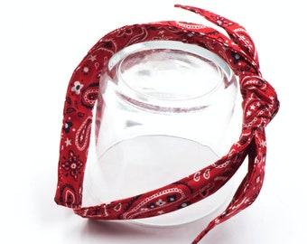 Classic red bandana headband • Knotty bow headband • Knotted bow headband • Bow tied headband • Bow headband