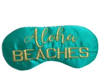 ALOHA Beaches sleep mask with adjustable elastic