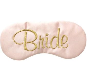 Bride sleep eye mask with adjustable elastic