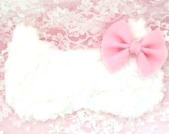 CAT BOW sleep mask • Adjustable sleep mask • Cute cat sleep mask • Kitty sleep mask • Bridesmaids gift • Glam sleep mask • Gift for her