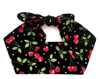 Top knot headband • CHERRIES and DOTS