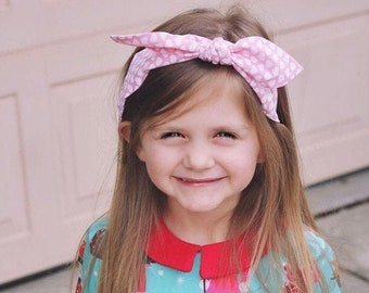Knotted bow headband • SWEETHEART