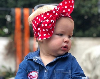 Top knot headband • ROSIE THE RIVETER