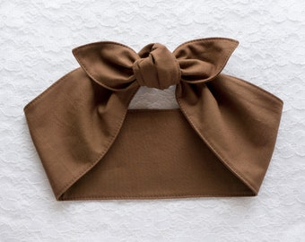 Top knot headband headscarf • SOLID COLORS