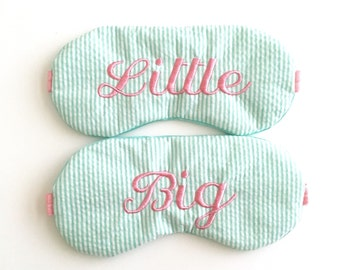 Seersucker Sorority sleep mask, Big Little reveal sister gift, Gift for Big Little, Big Little GBig GGBig Sorority matching sleep mask