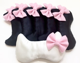 CAT BOW sleep mask • Adjustable sleep mask • Cute cat sleep mask • Kitty sleep mask • Bridesmaids gift • Slumber party favor • Gift for her