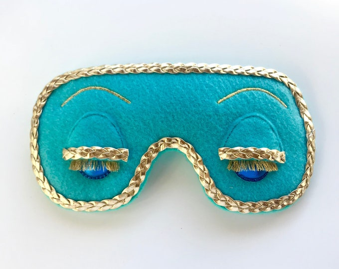 Featured listing image: Holly Golightly costume mask • Breakfast at Tiffany's Big Little Lies costume mask • Adjustable eye mask • VINTAGE STYLE FELT
